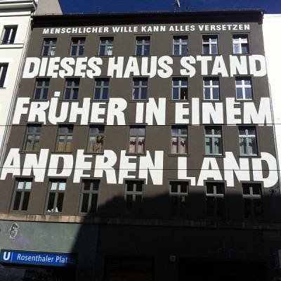 Ist das Angewandte Geschichte? Ein Haus in der Berliner Brunnenstraße