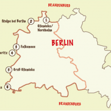 Interactive maps along the Berlin Wall