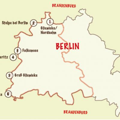 """Übersichtskarte der Orte, an denen die """"Dorfreporter"""" auf Spurensuche gingen."""