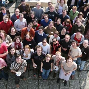 Teilnehmer des Treffens an der 2009 in Frankfurt (Oder) und Slubice