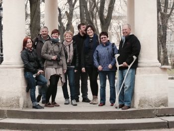 Abschlussfahrt nach Lwiw (Lemberg) 2012: ab jetzt machen sich die Kurse nach und nach selbstständig.