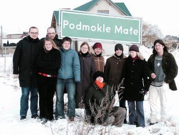 Auf ihrer Exkursion in die Neumark kommen die Studierenden auch durch das sprichwörtlich gewordene Klein Posemuckel, auf polnisch: Podmokle Małe. (Foto: Caroline Mekelburg)