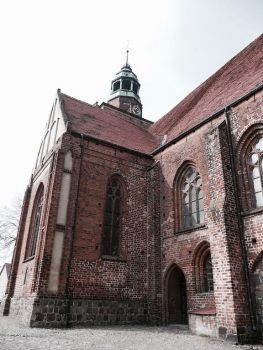 Spuren des Pilgerweges finden sich in Jakobskirchen beidseits der Oder, wie hier in Ośno Lubuskie (Drossen) (Foto: Magdalena Pietrzak)