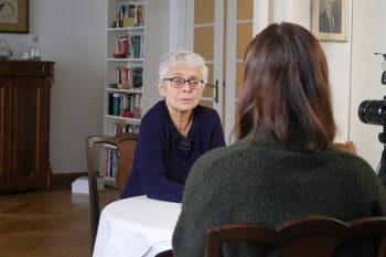 Marina Grasse, Beauftragte der Regierung für die Gleichstellung von Mann und Frau, im Interview mit Fanny Heidenreich. Foto: Andreas Gruner