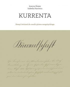 Polskojęzyczny zeszyt ćwiczeń do nauki czytania i pisania kurrentą.