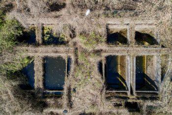 Drohnen-Aufnahme der ehemaligen Kläranlage, Foto: Christoph Löffler, Berlin