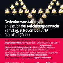 Gedenkveranstaltungen zum 81. Jahrestag der Reichsprogromnacht.